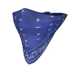 Blue Face Bandana