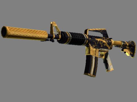 M4A1 消音型   金蛇缠绕 (略有磨损)