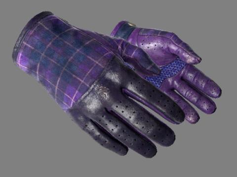 驾驶手套(★)   蓝紫格子 (久经沙场)