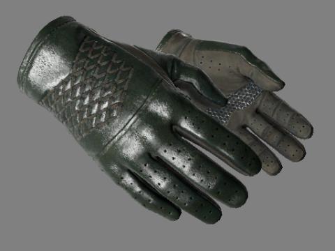 驾驶手套(★)   墨绿色调 (略有磨损)